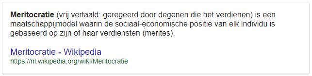 Meritocratische definitie