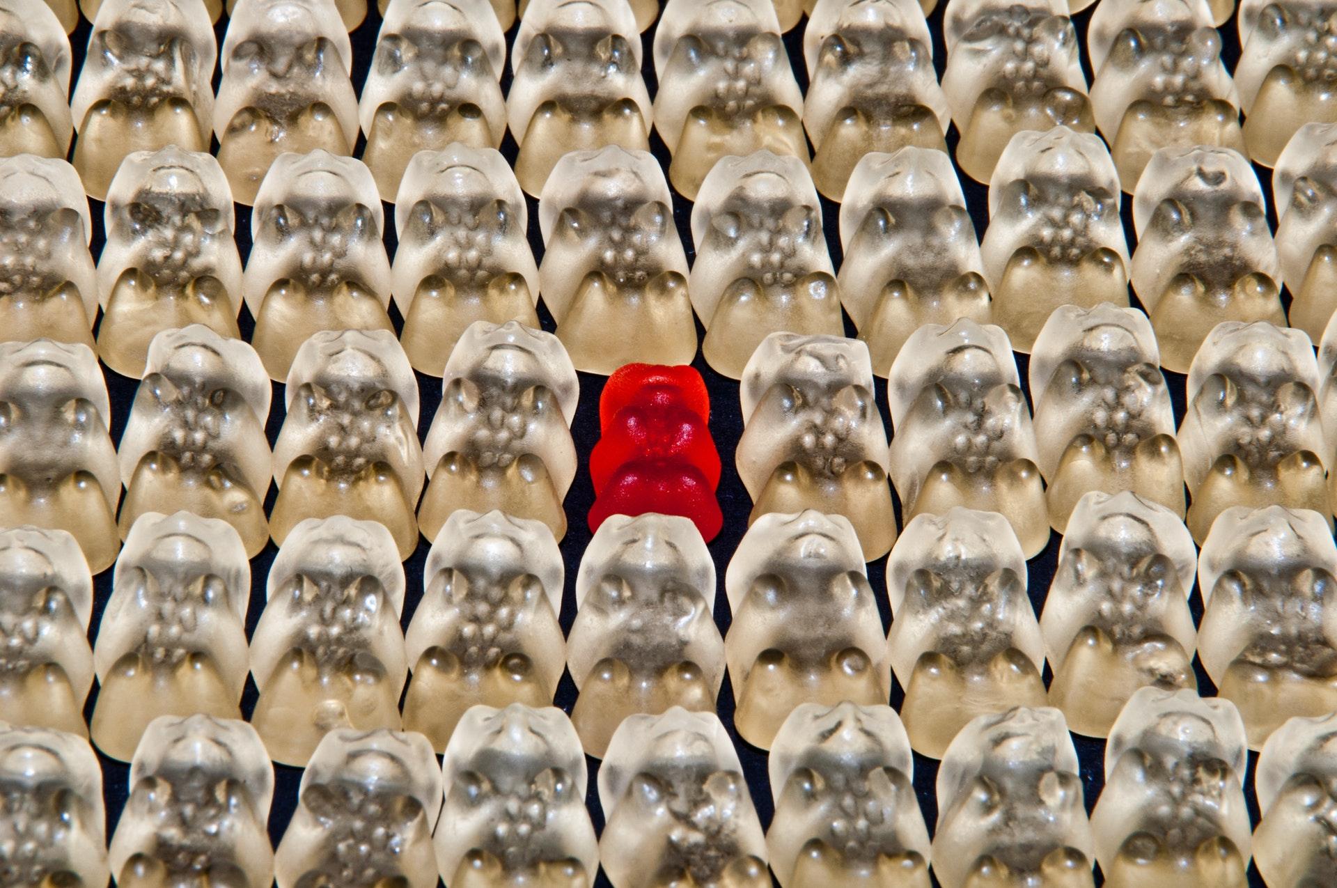 Haribo gummy beer opvallen