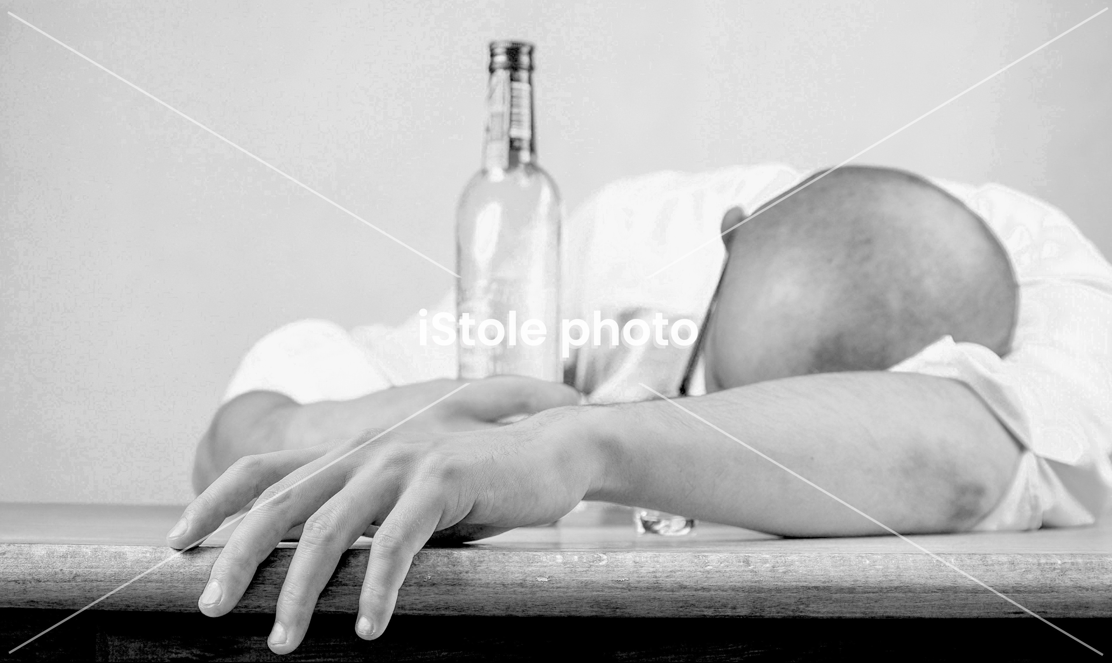 Polish man drunk vodka stockphoto