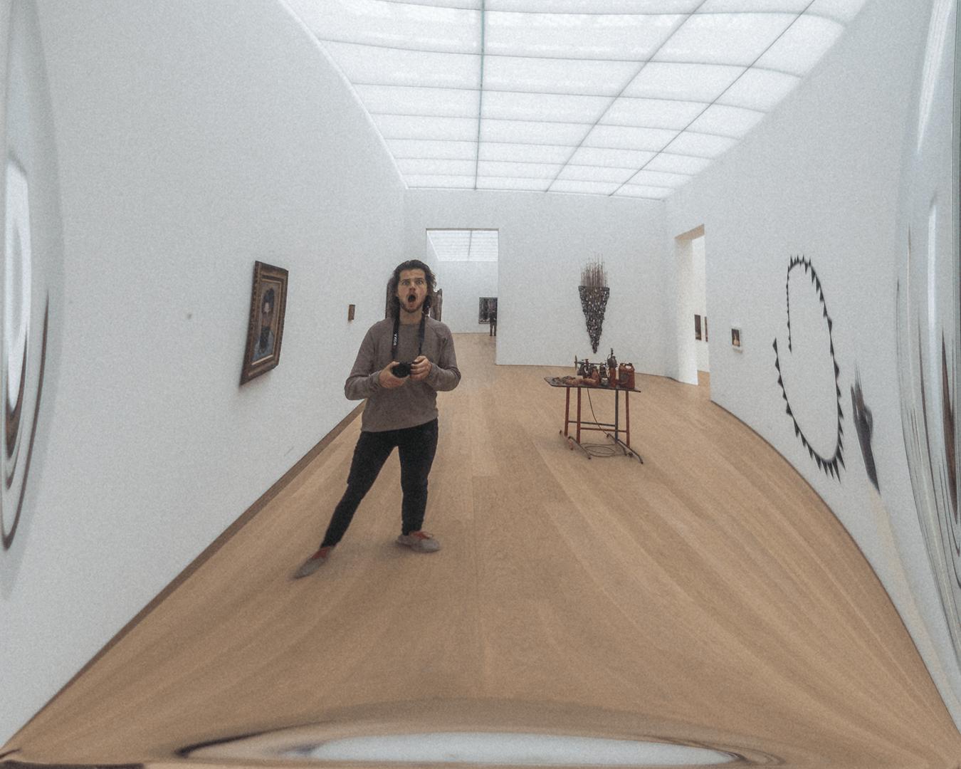 Museum Voorlienden lachspiegel selfie