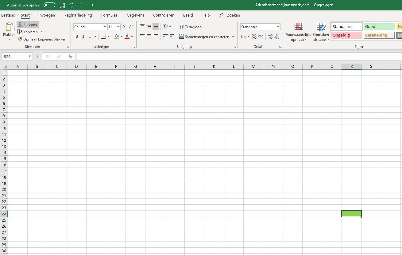 Excel werkblad